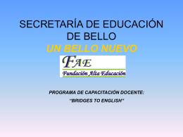 Programa de capacitaciòn de docentes BELLO 2007