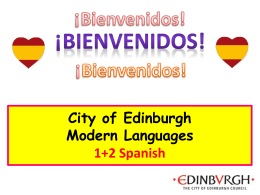 Por favor o No gracias? - Edinburgh Modern Languages