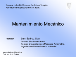 PPT Mantenimiento Mecánico