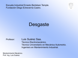PPT Desgastes - Mecánica Industrial