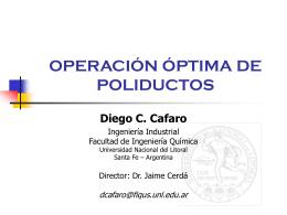 OPERACIÓN ÓPTIMA DE POLIDUCTOS