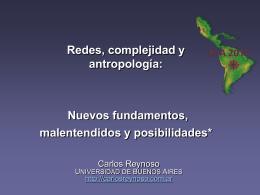 Redes, complejidad y antropologia