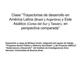 Clase América Latina - Este Asiatico a cargo de Barbara Couto
