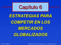 Características de la competencia en mercados extranjeros
