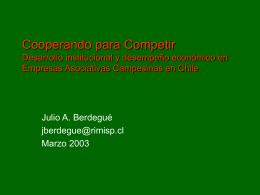 Cooperando para Competir Desarrollo institucional y