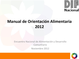 Manual de Orientación Alimentaria 2012