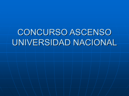 concurso ascenso universidad nacional