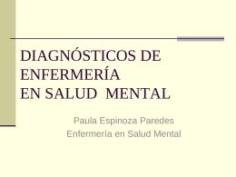 DIAGNÓSTICOS DE ENFERMERÍA EN SALUD MENTAL