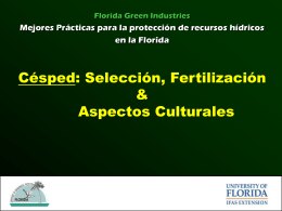 Cesped Seleccion Fertilzation y Apectos