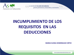 DEDUCIBLE? - As, Asesores en Soluciones