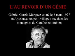 Diaporama sur Gabriel Garcia Marquez