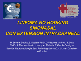 LINFOMA NO HODKING SINUNASAL Y EN BASE DE CRÁNEO