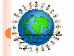 Voluntariado y proyecto de vida
