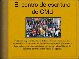 El centro de escritura de CMU