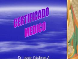 18.- certificados medicos