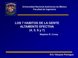Habitos 4, 5, 6, 7, Eric Vásquez Paniagua, 2007-1