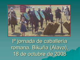 Iª jornada de caballería romana