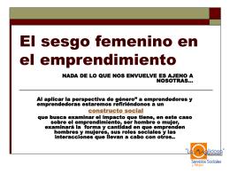 El sesgo femenino en el emprendimiento - Mancomunidad