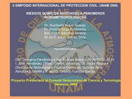 Riesgos Químicos Asociados a Fenómenos Hidrometeorológicos.