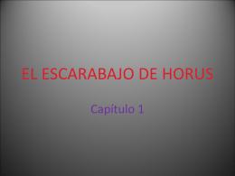 el escarabajo de horus - Bienvenidos al IES Julio Verne