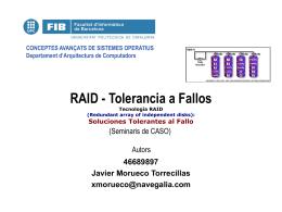 RAID - Tolerancia a Fallos