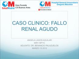 caso clinico: fallo renal agudo - Docencia C.Salud Buenos Aires