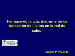 Farmacovigilancia: instrumento de detección de ilícitos