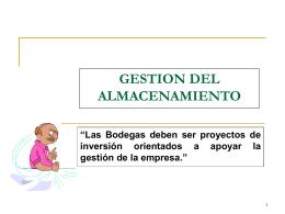 GESTION DEL ALMACENAMIENTO