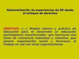 Sistematización de la Campaña de Educación para el Desarrollo