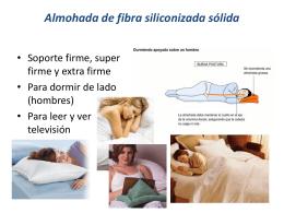 Almohada de fibra siliconizada sólida