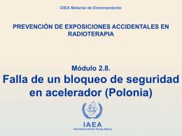 2.8 Falla de un bloqueo de seguridad en acelerador (Polonia)