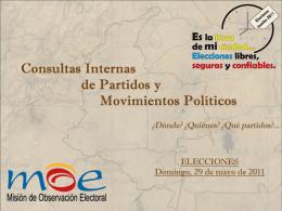 Consultas Internas de Partidos