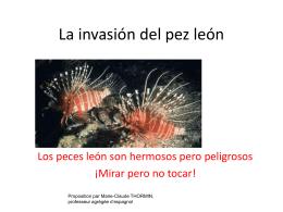 La invasión del pez león