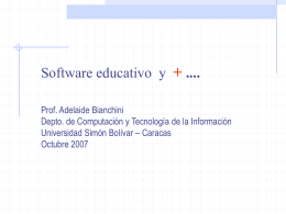 Software Educativo - LDC - Universidad Simón Bolívar