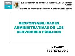Responsabilidades Administrativas de los Servidores Públicos