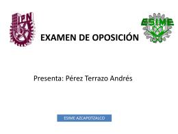 Presenta: Pérez Terrazo Andrés Directores de tesis: Dr