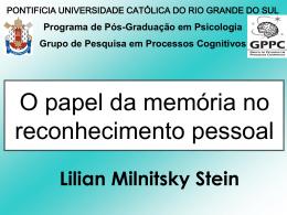 Falsas Memórias: Questões Aplicadas à Psicologia