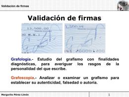 Validación de firmas falsas