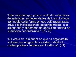 Presentación de Marcuse - filosofia social y politica