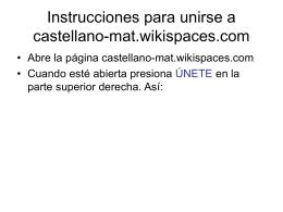 Instrucciones para unirse a castellano