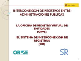 Presentación Ejecutiva del Proyecto ORVE - SIR