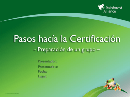 Administrador del grupo - Sustainable Agriculture Training