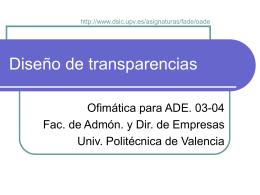 Diseño de transparencias