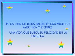 Presentación de M. Carmen - Concepcionistas Misioneras de la