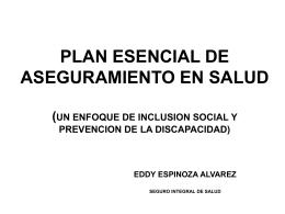 plan esencial de aseguramiento en salud un enfoque