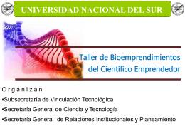 Charla Bioempresas 19 10 2012 - Universidad Nacional del Sur