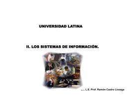 Sistemas de Información - Docencia FCA-UNAM