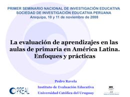 Diapositivas - Sociedad de Investigación Educativa Peruana