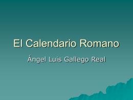 Calendario Romano - Grado de Historia del Arte UNED