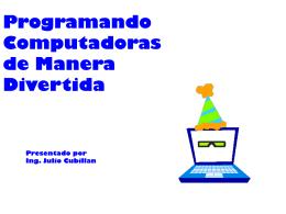 Programando computadoras